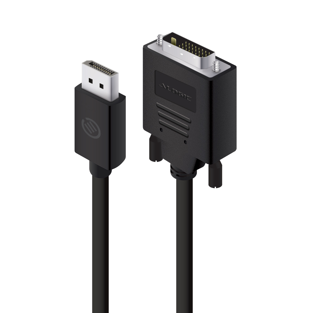 ALOGIC 1m DisplayPort to DVI Cable - Male to Male - ELEMENTS Series