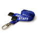 Digital ID Royal Blue Staff Lanyards with Breakaway and Metal Lobster Clip - Pack of 100