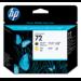 HP Cabezal de impresión DesignJet 72 negro mate y amarillo