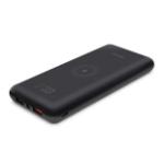 Aluratek AWPBQ10KF power bank Lithium-Ion (Li-Ion) 10000 mAh Wireless charging Black