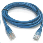 8WARE Cat6 RJ45M Flat Network Cable 2m Blue