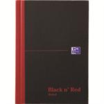 Black n' Red Book Casebound 90gsm Ruled 192pp A5 Ref 100080459 [Pack 5]