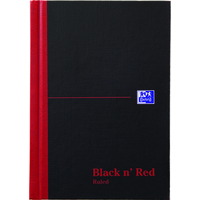 Black n' Red Book Casebound 90gsm Ruled 192pp A5 Ref 100080459 [Pack 5]