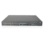 Hewlett Packard Enterprise 3600-24-PoE+ v2 EI Managed network switch L3 Fast Ethernet (10/100) Power over Ethernet (PoE) Black