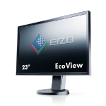 Eizo EV2316WFS-BK 23 Inch LED Monitor, 1920 x 1080, Black Bezel, 2 x 1W Built-In Speakers, Height Adjustable, 5 Year Warranty