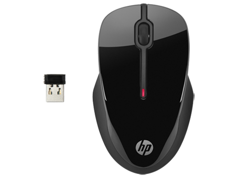 HP X3500 RF Wireless Ambidextrous Black mice