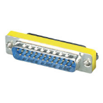 Black Box FA652-R2 cable gender changer DB25 Silver, Yellow