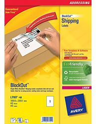 Avery BlockOut Shipping Labels White 40pc(s) self-adhesive label
