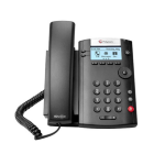 Polycom VVX 201 Wired handset 2lines LCD Black IP phone 2200-40450-025