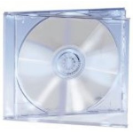 Ednet 5 CD Jewelcases Single Crystal 1 discs Transparent