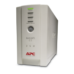 APC Back-UPS uninterruptible power supply (UPS) Standby (Offline) 350 VA 210 W 4 AC outlet(s)