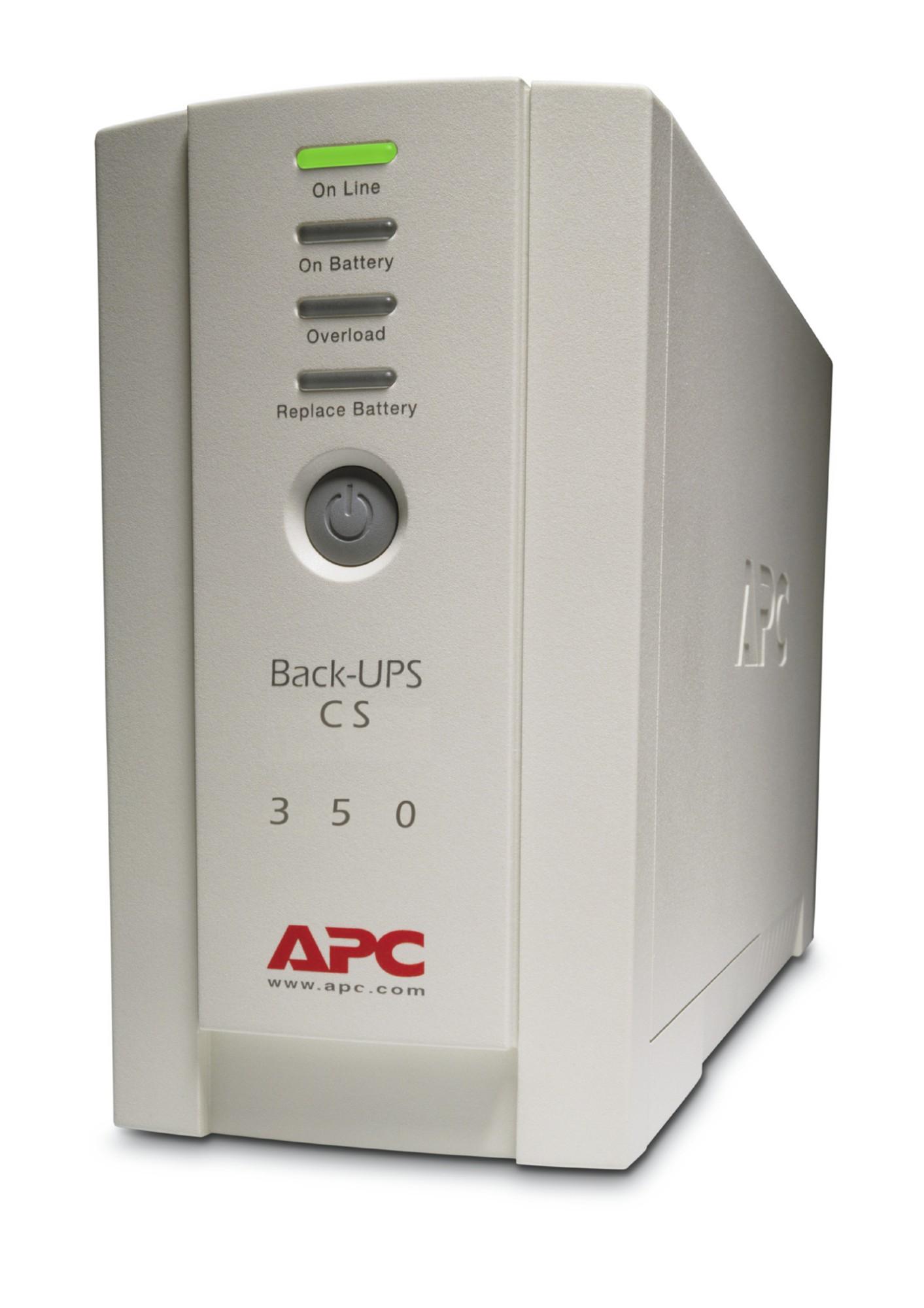 APC Back-UPS sistema de alimentación ininterrumpida (UPS) En espera (Fuera de línea) o Standby (Offline) 350 VA 210 W 4 salidas AC