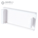 CONNEkT Gear AV Snap-In Blanking Plate - 25 x 50mm - White
