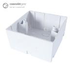 CONNEkT Gear AV Single Back Box - 2 Module 45mm Deep - White