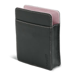 Garmin Black carrying case with pink trim Leather Black