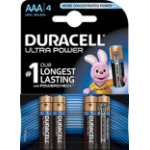Duracell Ultra Power AAA 4PK Alkaline 1.5V non-rechargeable battery