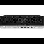 HP EliteDesk 800 G5 9th gen Intel® Core™ i7 i7-9700 8 GB DDR4-SDRAM 256 GB SSD SFF Black, Silver PC Windows 10 Pro