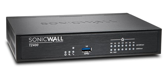 SonicWall TZ400 cortafuegos (hardware) 1300 Mbit/s Escritorio