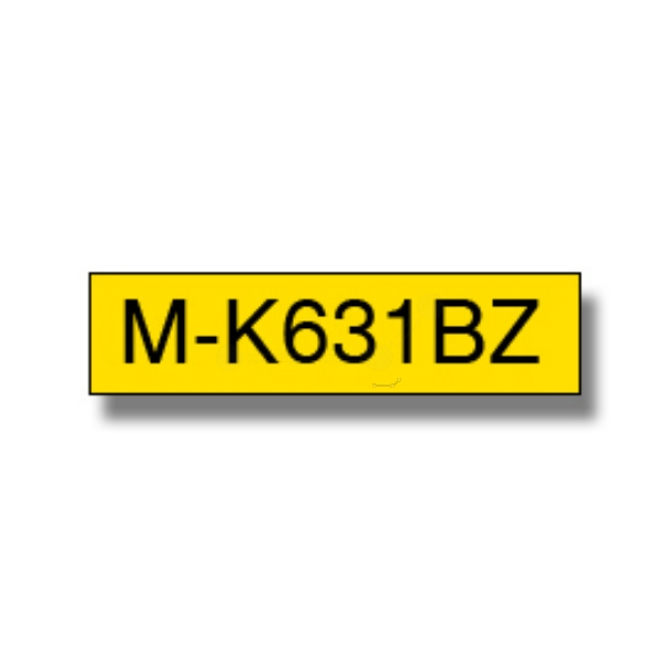 M-tape 12mm Black On Yellow Single Pack (m-k631)