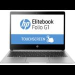 "HP EliteBook Folio G1 1.2GHz m7-6Y75 12.5"" 3840 x 2160Pixels Touchscreen Zilver Notebook"