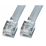 Lindy RJ-12 M/M 2.0m telephony cable 2 m Grey