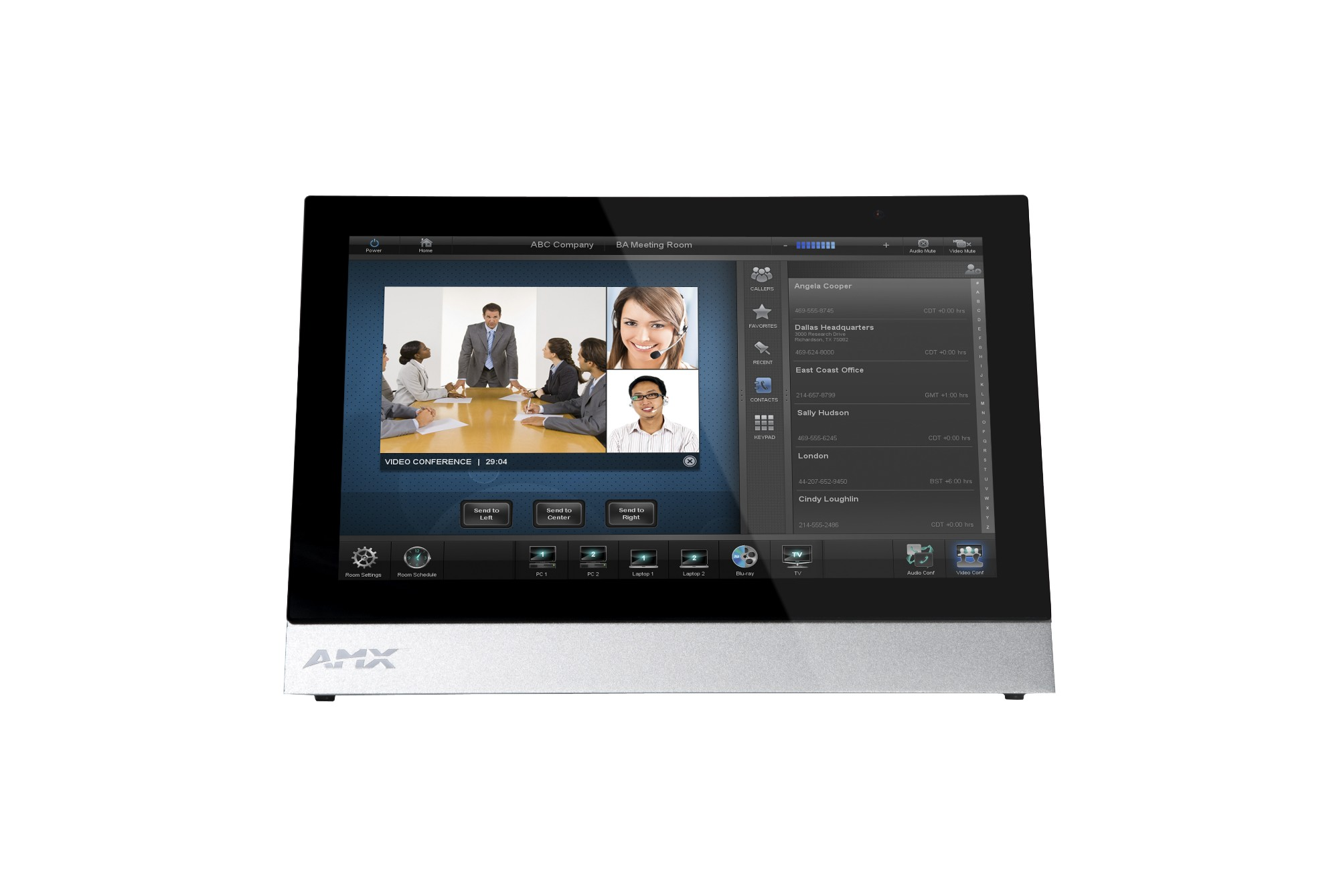 "AMX MXT-1001 10.1"" 1280 x 800pixels Tabletop Aluminium,Black touch screen monitor"