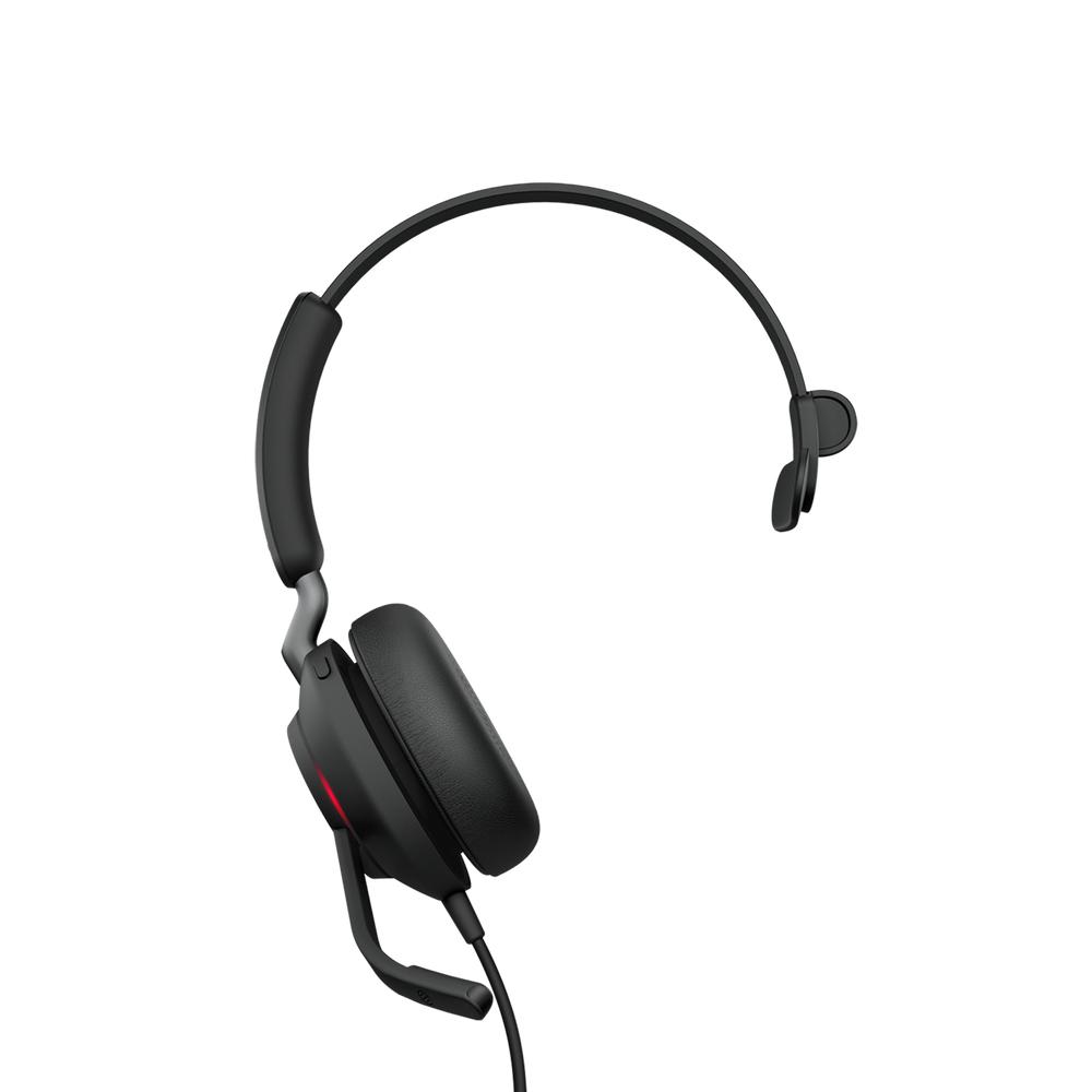 Jabra Evolve2 40, MS Mono Auriculares Diadema Negro
