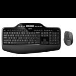 Logitech MK710 toetsenbord RF Draadloos QWERTZ Duits Zwart