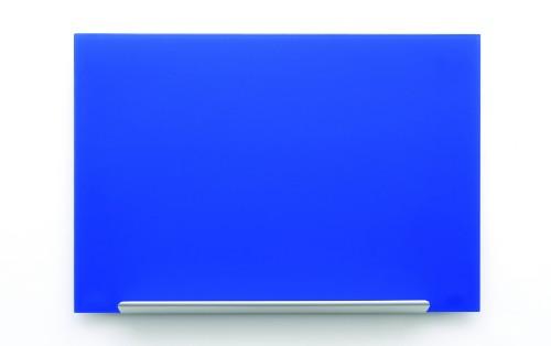Nobo Diamond Glass Board Magnetic Blue 1264x711mm