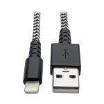 Tripp Lite M100-006-HD lightning cable 1.8 m Black, Metallic