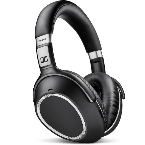 Sennheiser MB 660 UC MS Binaural Head-band Black, Silver