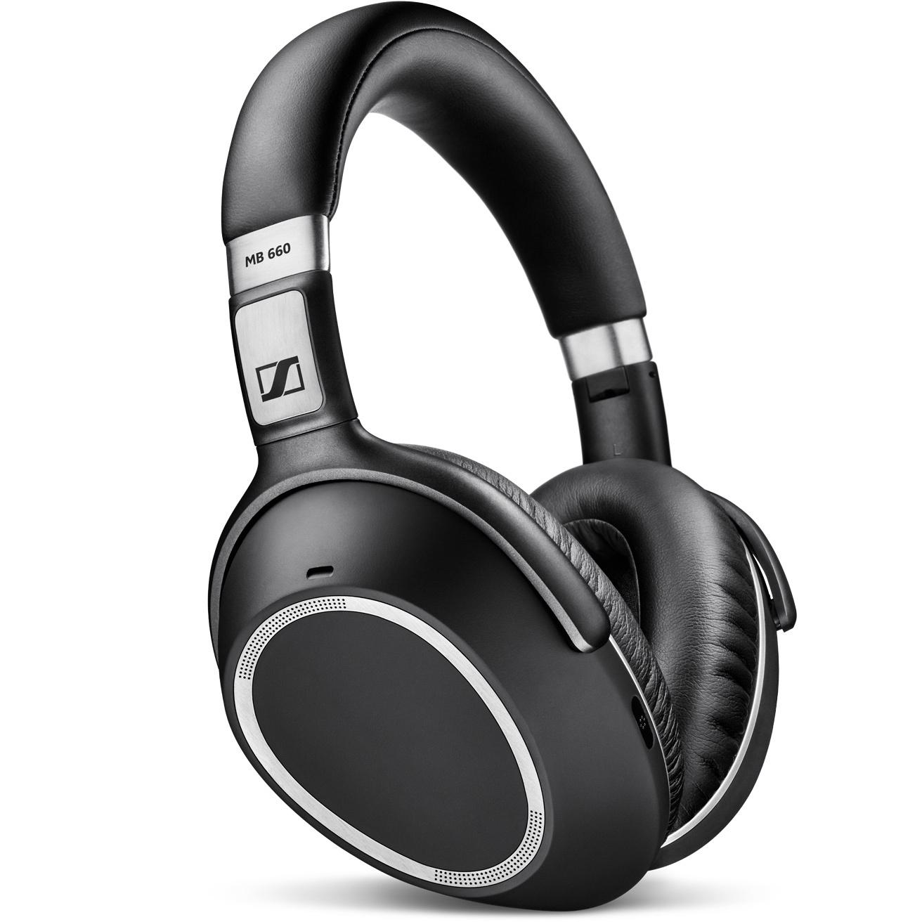 Sennheiser MB 660 UC MS Binaural Head-band Black,Silver headset