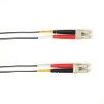 """Black Box FOCMP10-010M-LCLC-GR fiber optic cable 393.7"""" (10 m) LC OFNP OM3 Gray"""