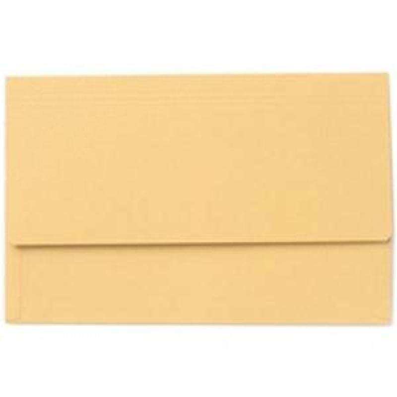 Exacompta Value Document Wallet Foolscap Yellow PK50