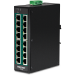 Trendnet TI-PG160 switch No administrado Gigabit Ethernet (10/100/1000) Energía sobre Ethernet (PoE) Negro