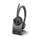 POLY 218476-02 headphones/headset Head-band USB Type-A Bluetooth Charging stand Black