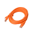 8WARE Cat 6a UTP Ethernet Cable, Snagless - 2m Orange
