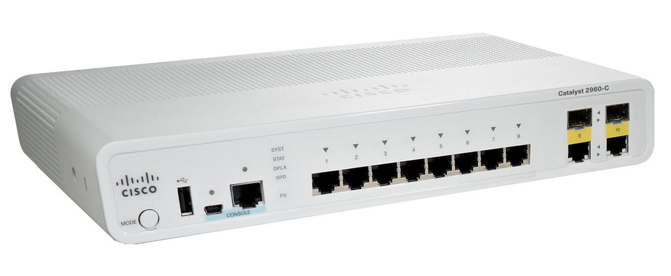 Cisco Catalyst 2960-C Managed L2 Fast Ethernet (10/100) White
