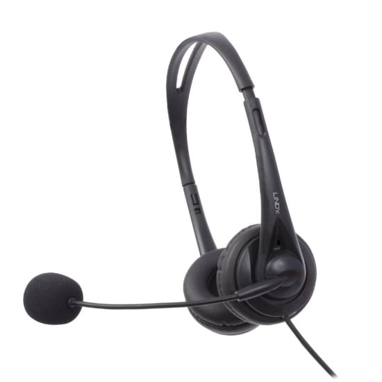 Lindy 20397 Binaural Head-band Black headset