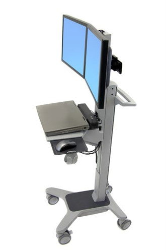 Ergotron Neo-Flex Dual WideView WorkSpace Multimedia cart Grey Flat panel