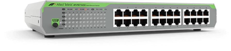 Allied Telesis FS710/24 No administrado Fast Ethernet (10/100) Gris