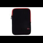 """V7 TDM23BLK-RD-2E 7.9"""" Opbergmap/sleeve Zwart, Rood tabletbehuizing"""