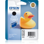 Epson C13T05514010 (T0551) Ink cartridge black, 290 pages, 8ml