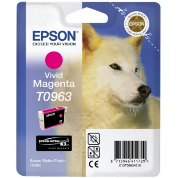 Epson C13T09634010 (T0963) Ink cartridge magenta, 865 pages, 11ml