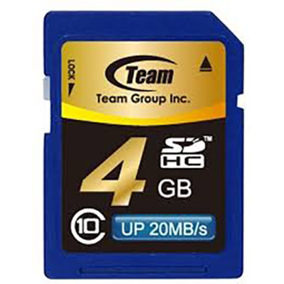 TEAM GROUP MEMORY CARD SDHC 4GB CLASS 10