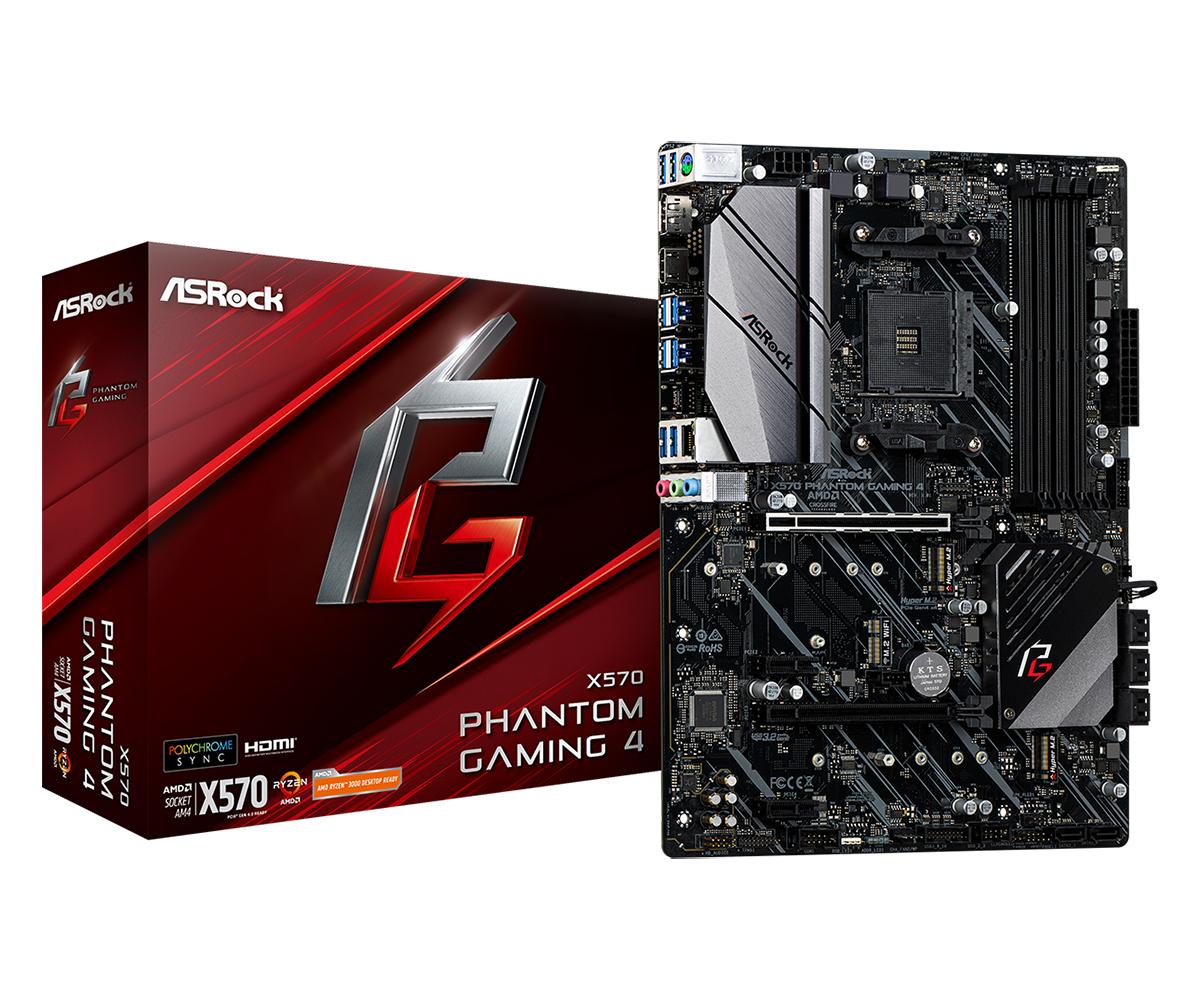 Asrock X570 Phantom Gaming 4 motherboard Socket AM4 ATX AMD X570