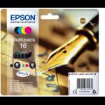 Epson C13T16264022 (16) Ink cartridge multi pack, 175pg + 3x165pg, 1x5.4ml + 3x3.1ml, Pack qty 4