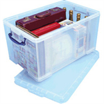 REALUSE REALLY USEFUL 84 LITRE BOX WITH LID CLR