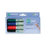 Bi-Office PE2206 Black,Blue,Green,Red 4pc(s) marker