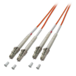 Lindy LC / LC 50/125µm OM2 15m fiber optic cable Orange